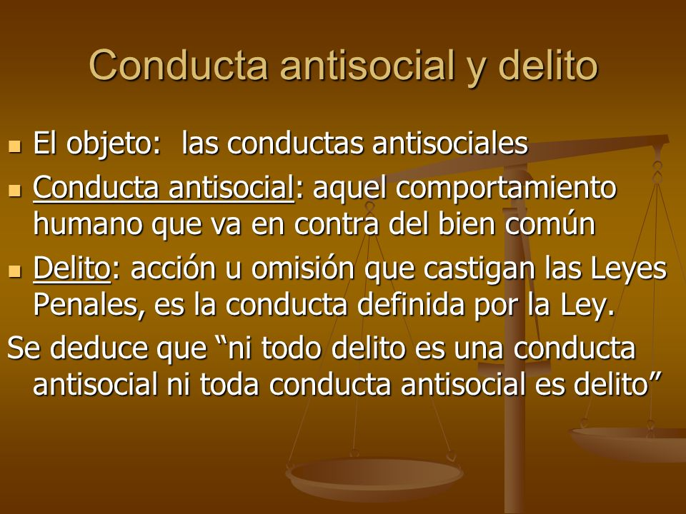 Conducta antisocial y delito