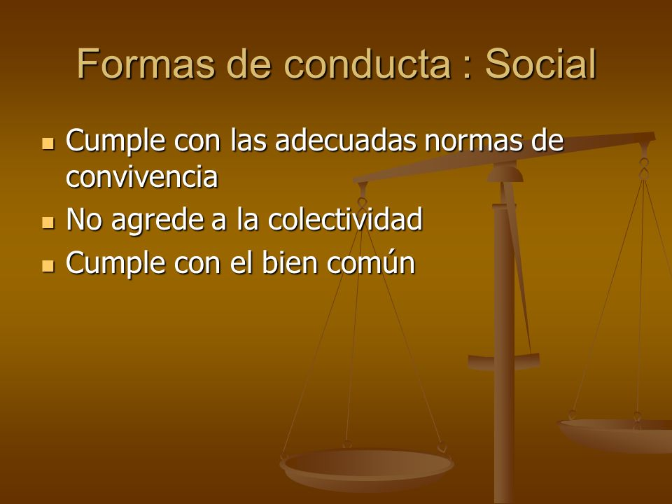 Formas de conducta : Social