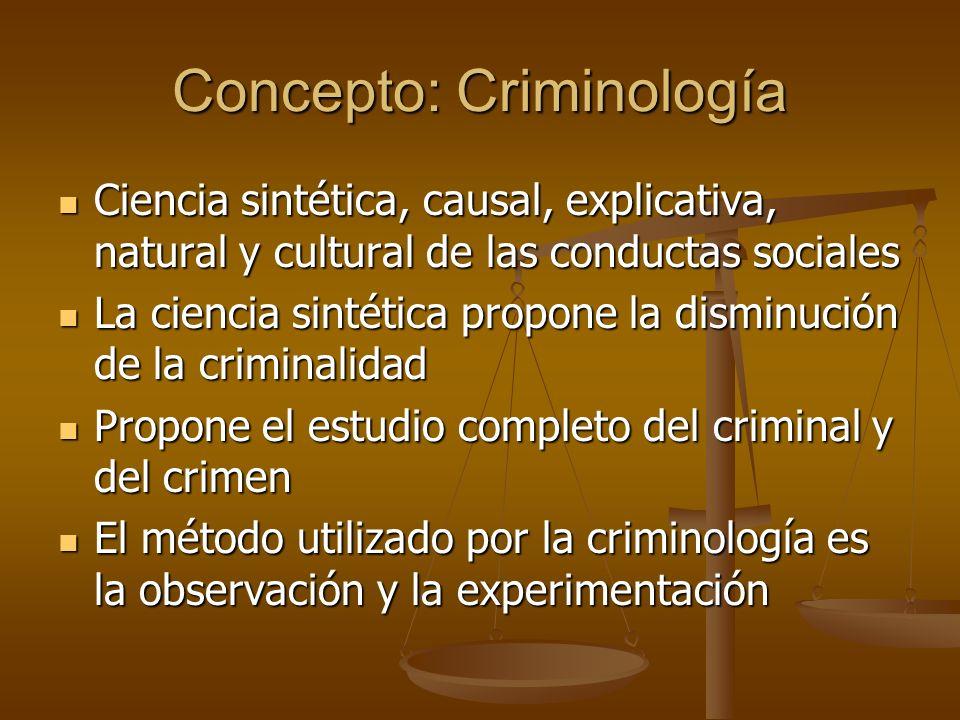 Concepto: Criminología