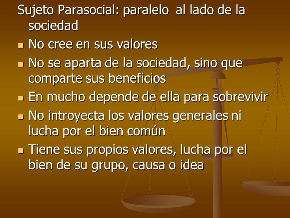 Sujeto Parasocial: paralelo al lado de la sociedad