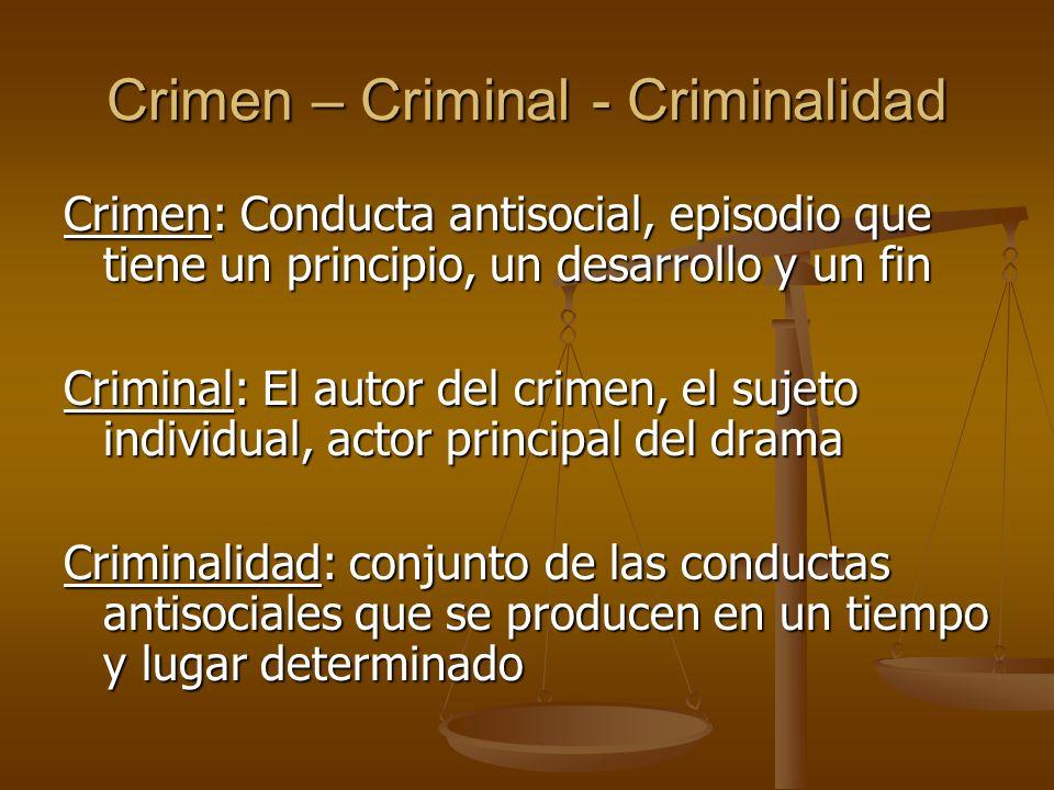 Crimen – Criminal - Criminalidad