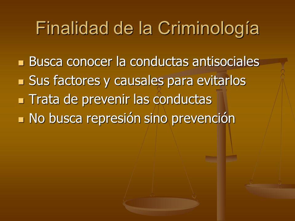 Finalidad de la Criminología