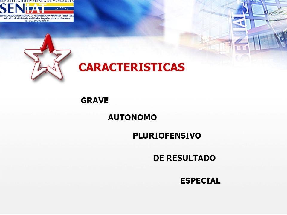 CARACTERISTICAS GRAVE AUTONOMO PLURIOFENSIVO DE RESULTADO ESPECIAL