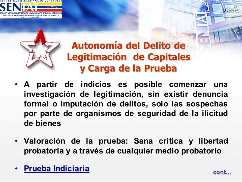 Autonomía del Delito de Legitimación de Capitales y Carga de la Prueba