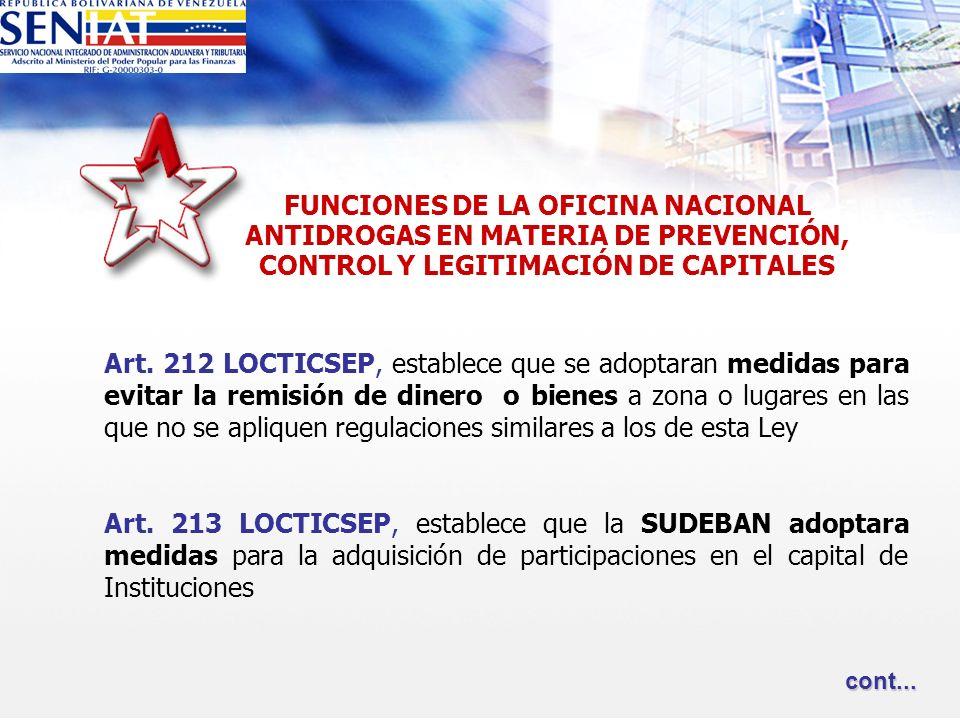 FUNCIONES DE LA OFICINA NACIONAL ANTIDROGAS EN MATERIA DE PREVENCIÓN,
