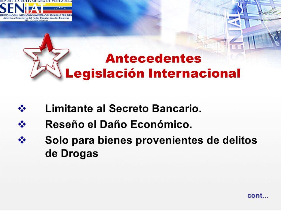 Antecedentes Legislación Internacional
