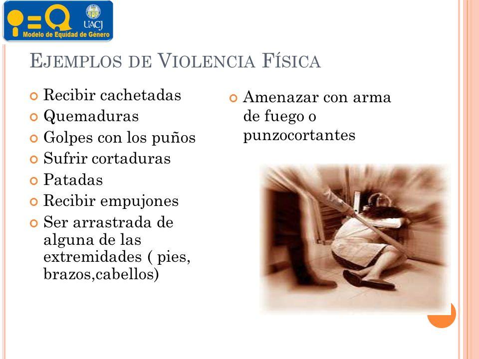 Ejemplos de Violencia Física