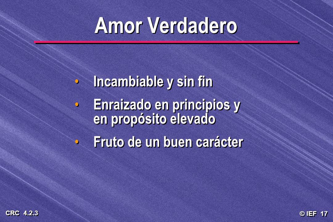 Amor Verdadero Incambiable y sin fin