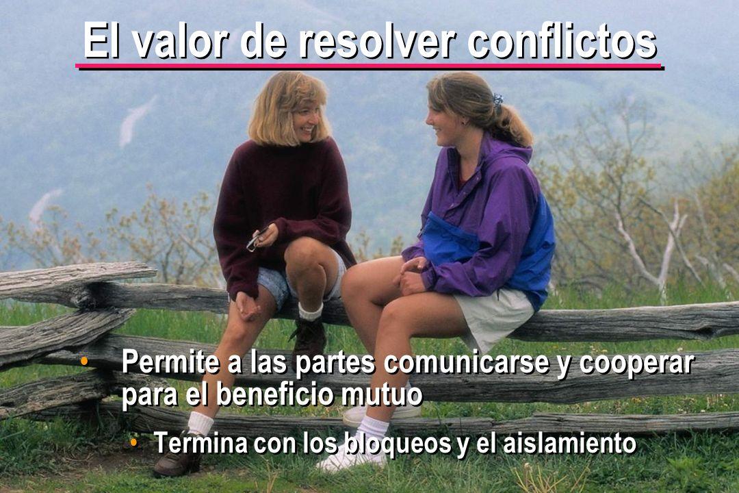 El valor de resolver conflictos