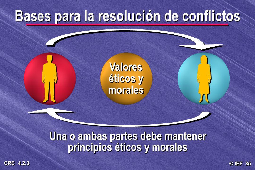 Bases para la resolución de conflictos