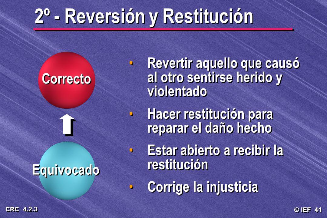 2º - Reversión y Restitución