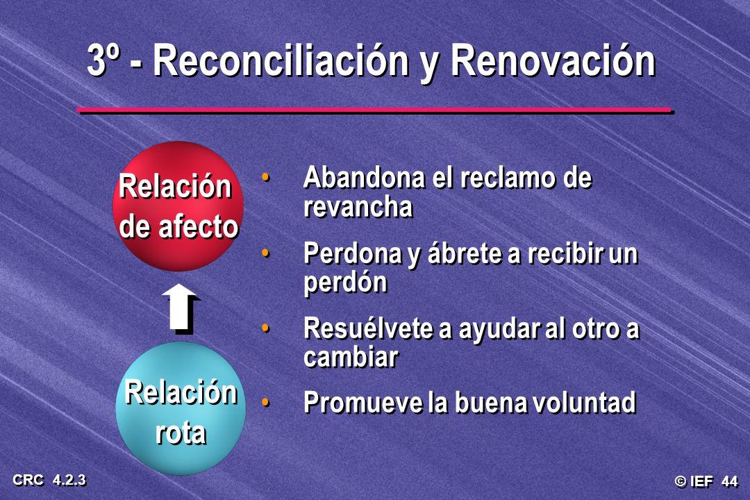 3º - Reconciliación y Renovación
