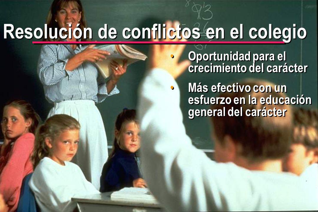 Resolución de conflictos en el colegio
