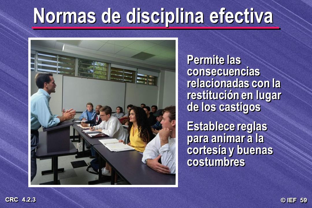 Normas de disciplina efectiva
