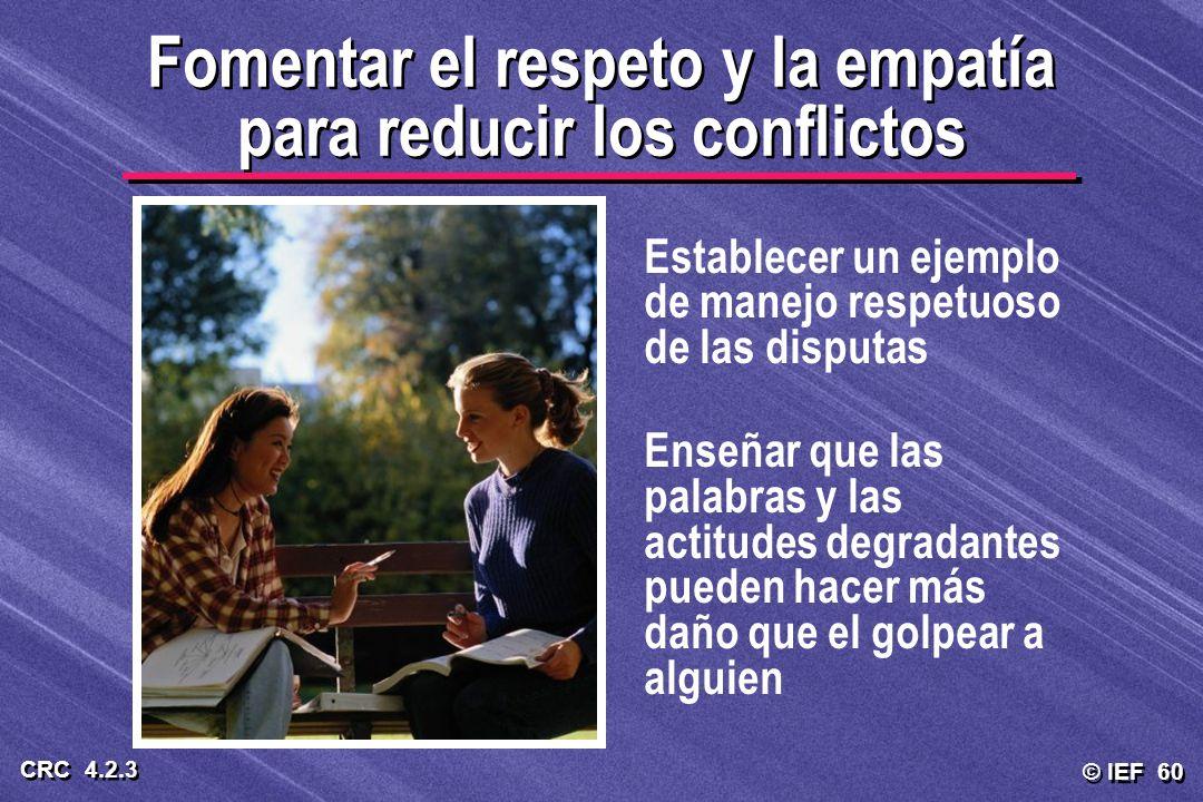 Fomentar el respeto y la empatía para reducir los conflictos