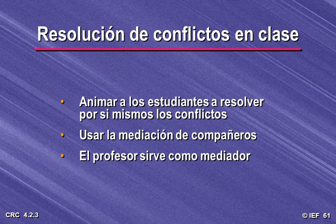 Resolución de conflictos en clase