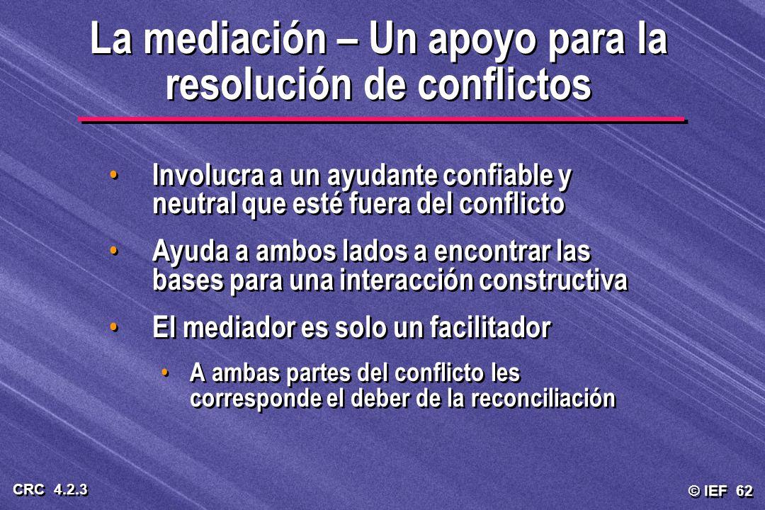 La mediación – Un apoyo para la resolución de conflictos