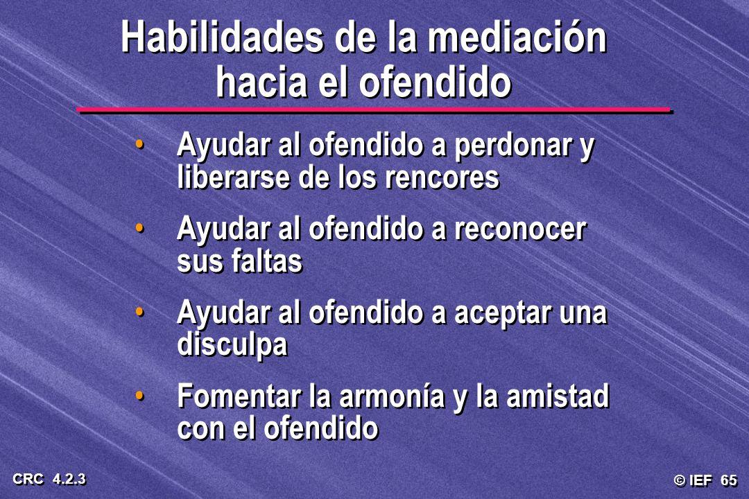 Habilidades de la mediación hacia el ofendido