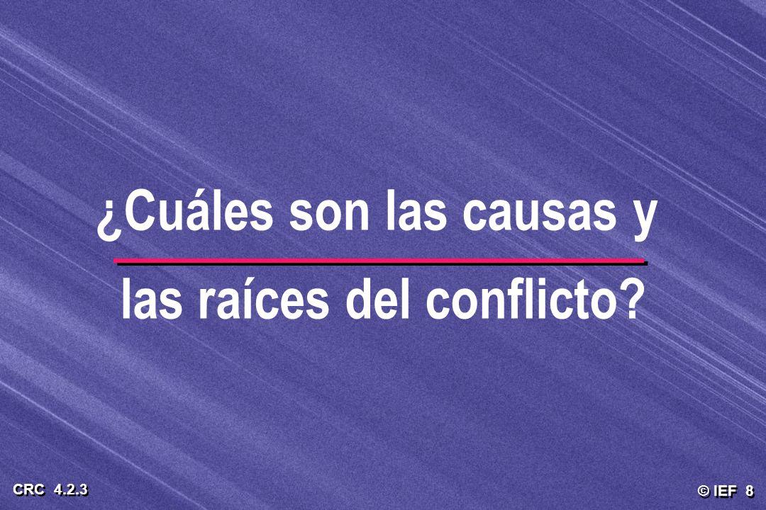 ¿Cuáles son las causas y las raíces del conflicto
