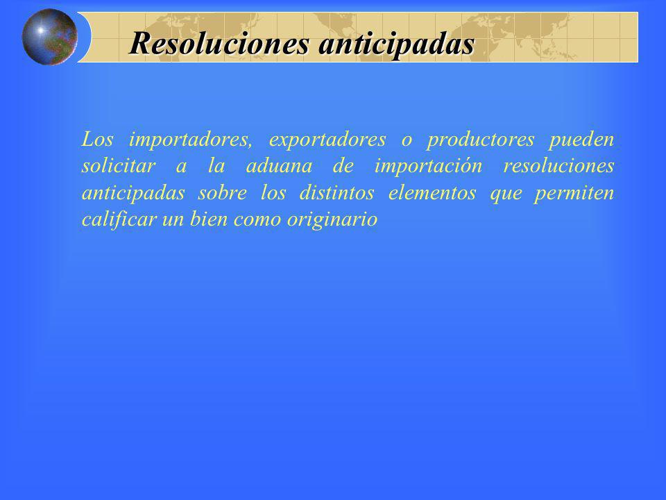Resoluciones anticipadas