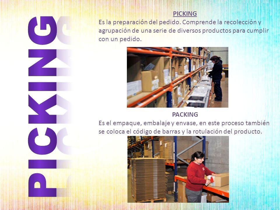 PICKING Es la preparación del pedido. Comprende la recolección y agrupación de una serie de diversos productos para cumplir con un pedido.