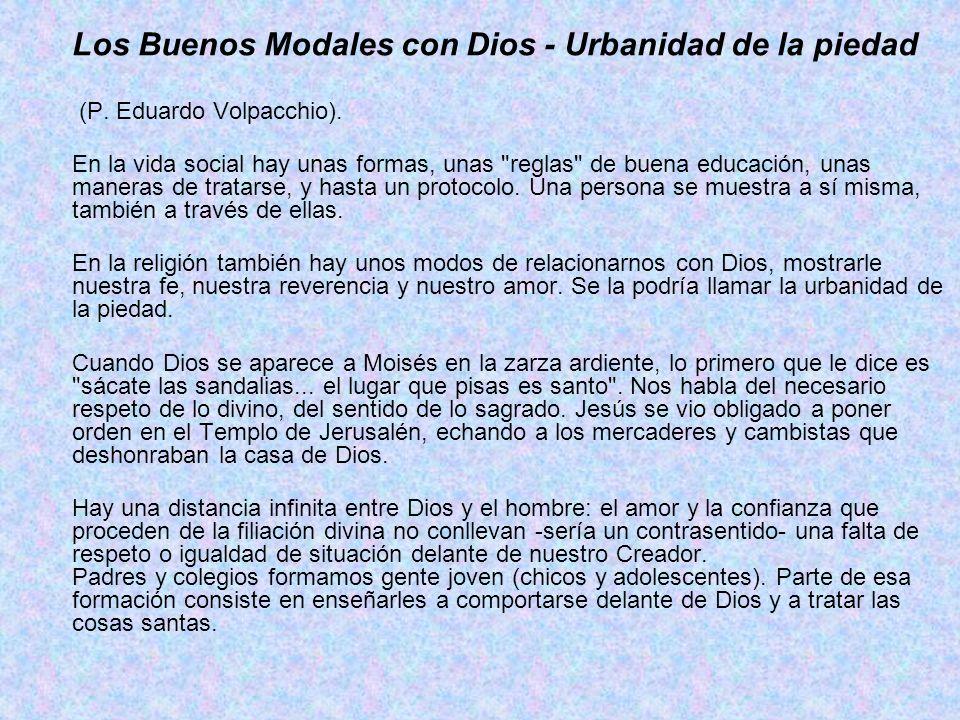 Los Buenos Modales con Dios - Urbanidad de la piedad
