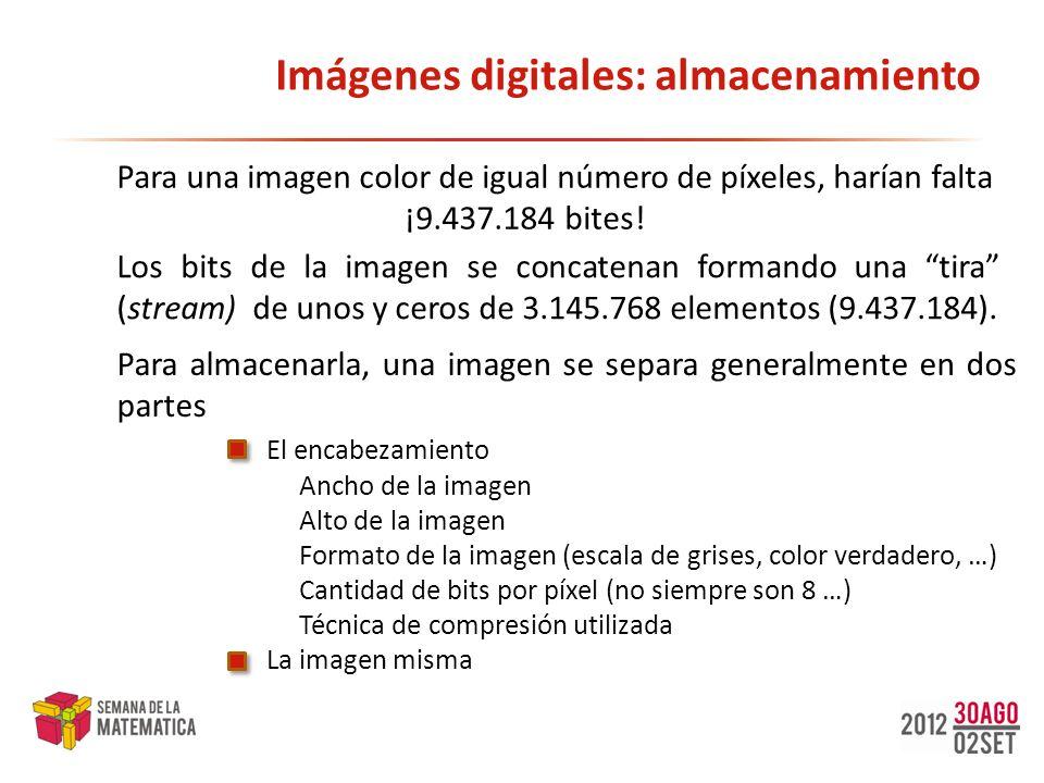 Imágenes digitales: almacenamiento