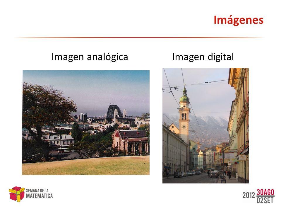 Imágenes Imagen analógica Imagen digital