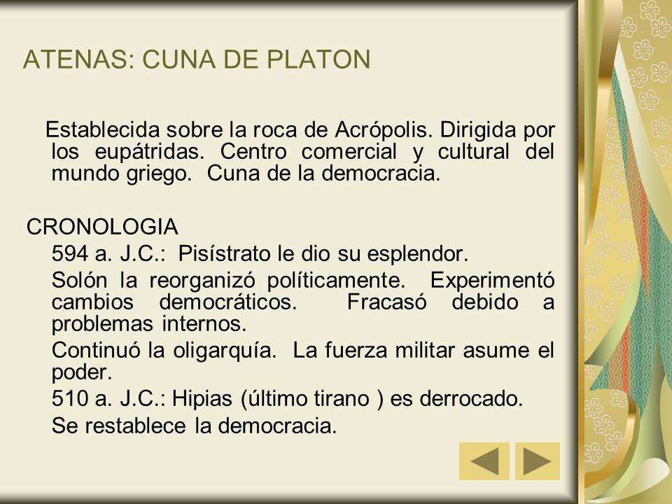 ATENAS: CUNA DE PLATON