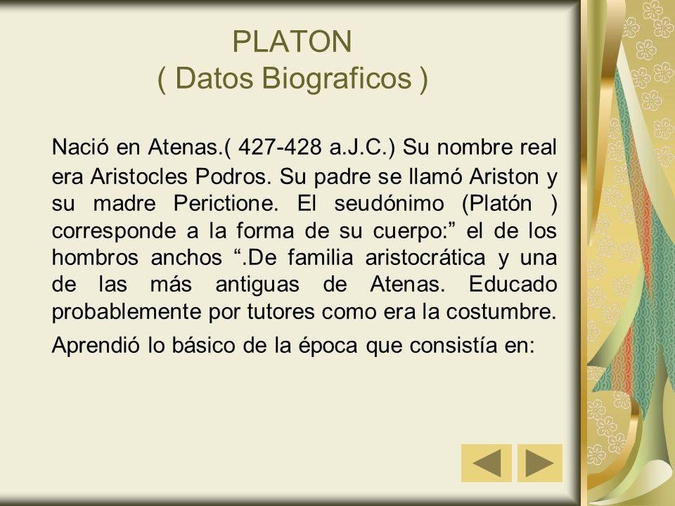 PLATON ( Datos Biograficos )