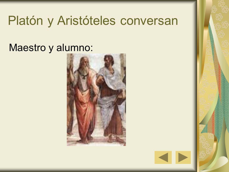Platón y Aristóteles conversan