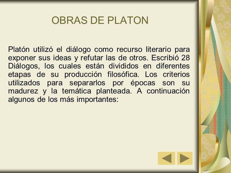 OBRAS DE PLATON