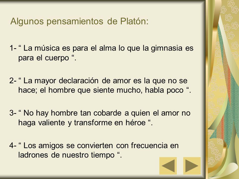 Algunos pensamientos de Platón:
