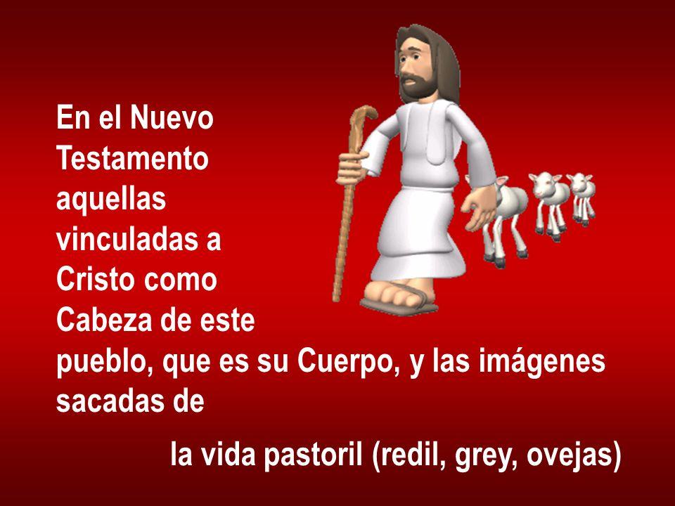 En el Nuevo Testamento. aquellas. vinculadas a. Cristo como. Cabeza de este. pueblo, que es su Cuerpo, y las imágenes.
