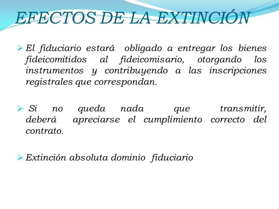 EFECTOS DE LA EXTINCIÓN