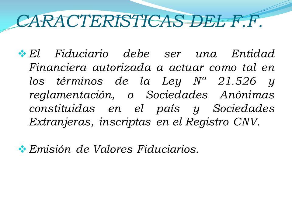 CARACTERISTICAS DEL F.F.