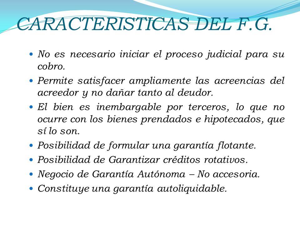 CARACTERISTICAS DEL F.G.