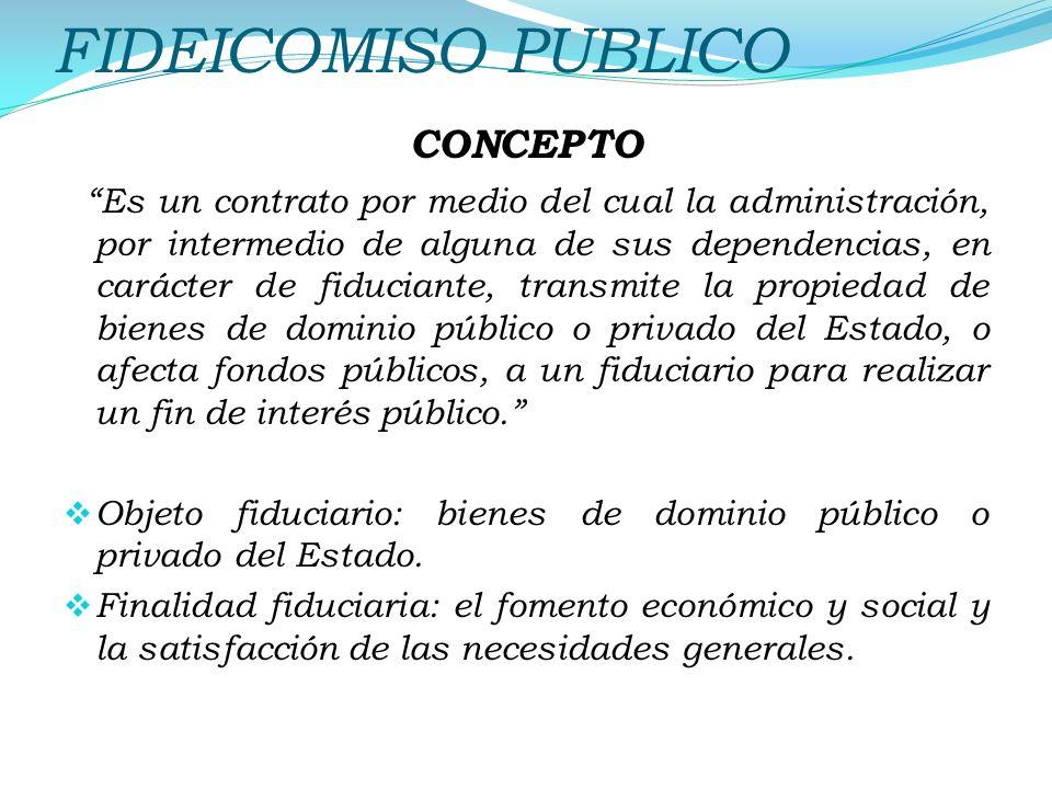 FIDEICOMISO PUBLICO CONCEPTO
