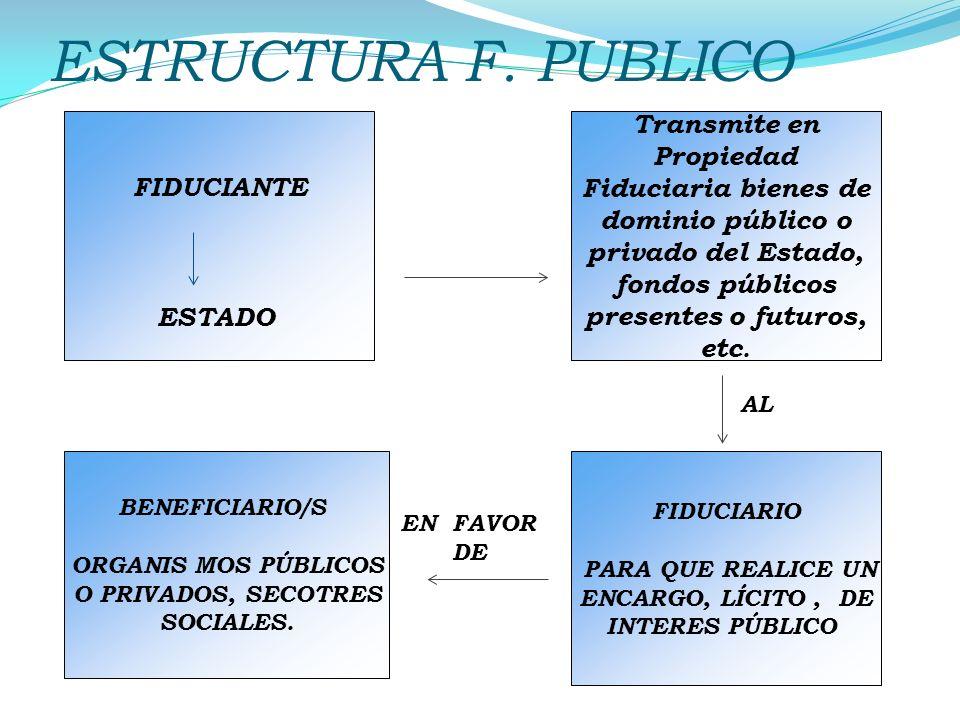 ESTRUCTURA F. PUBLICO FIDUCIANTE ESTADO