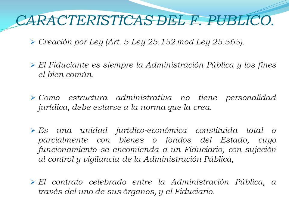 CARACTERISTICAS DEL F. PUBLICO.