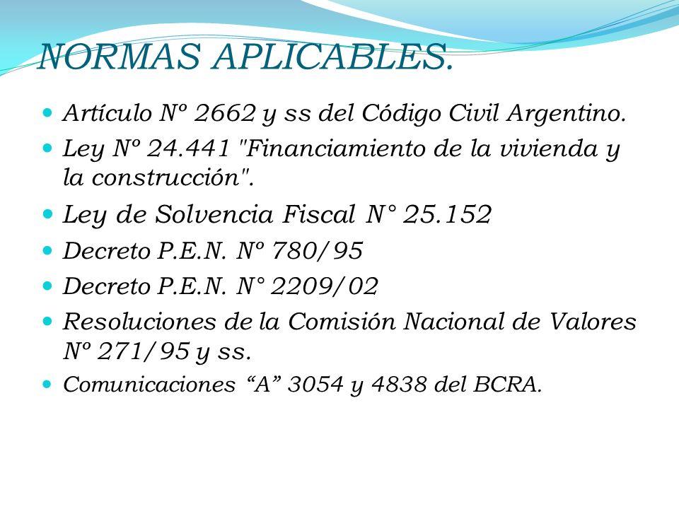 NORMAS APLICABLES. Ley de Solvencia Fiscal N° 25.152