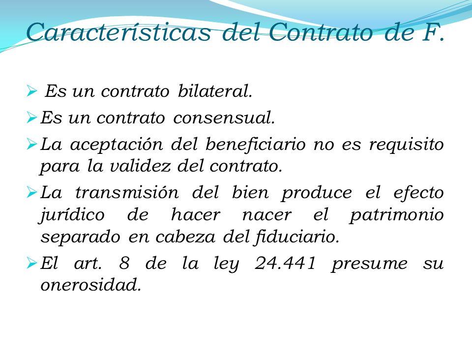 Características del Contrato de F.