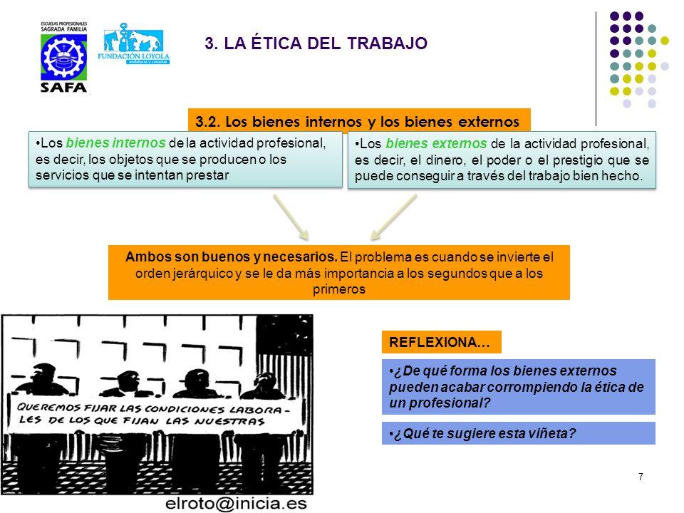 3. LA ÉTICA DEL TRABAJO 3.2. Los bienes internos y los bienes externos