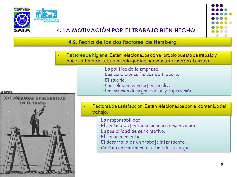 4. LA MOTIVACIÓN POR EL TRABAJO BIEN HECHO