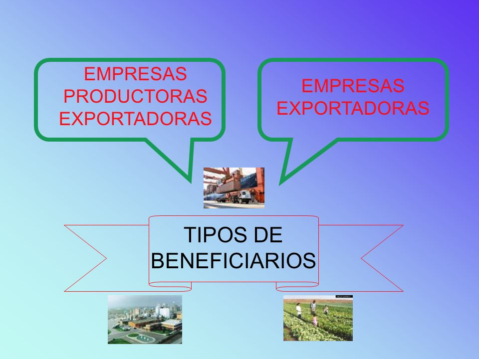 TIPOS DE BENEFICIARIOS