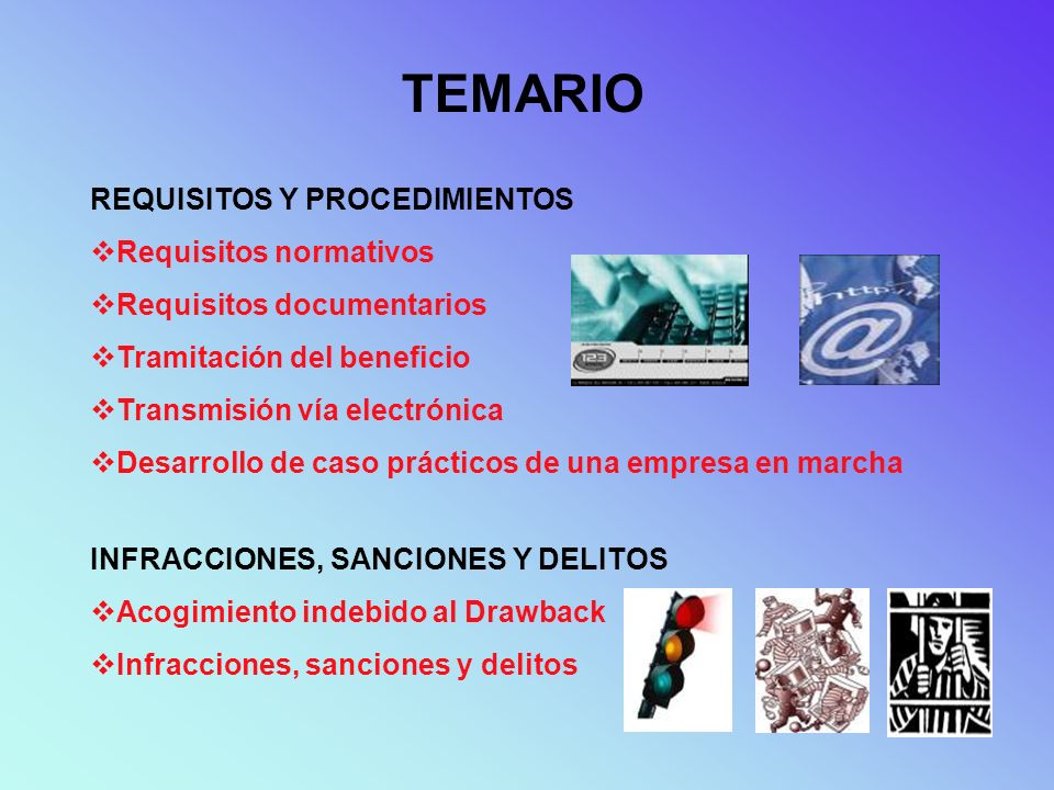 TEMARIO REQUISITOS Y PROCEDIMIENTOS Requisitos normativos