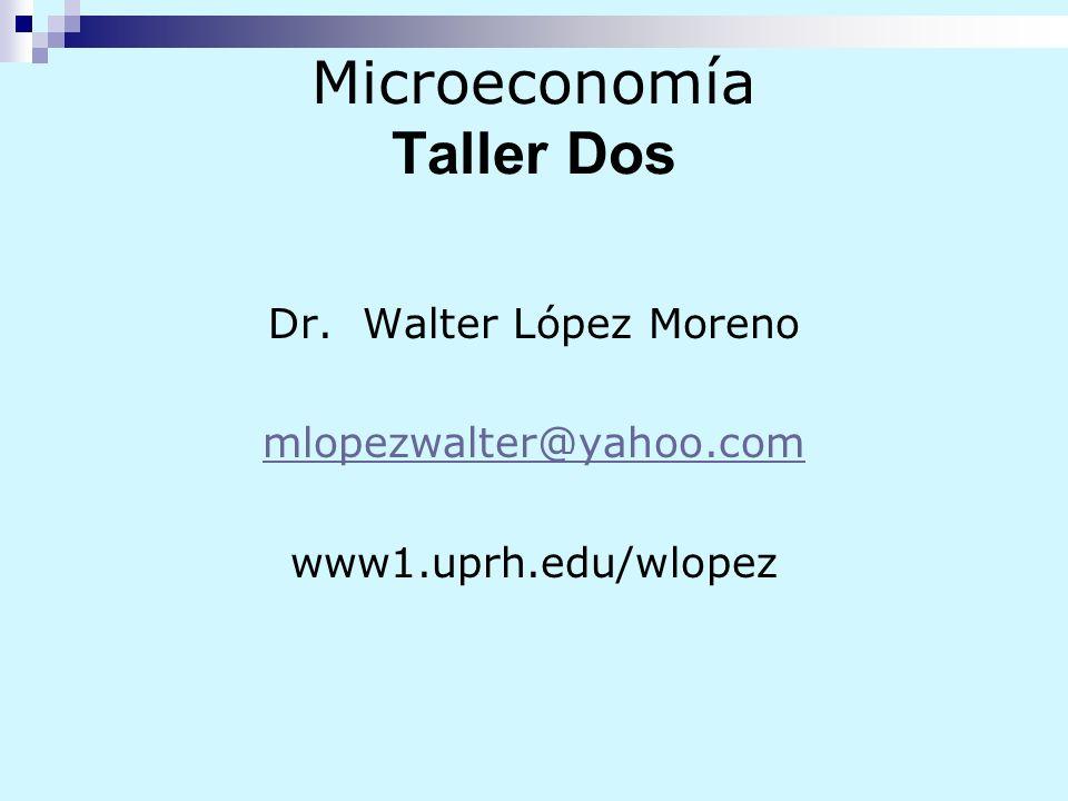 Microeconomía Taller Dos