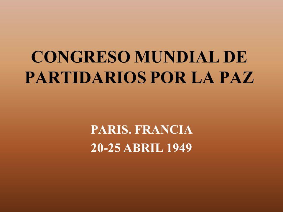 CONGRESO MUNDIAL DE PARTIDARIOS POR LA PAZ