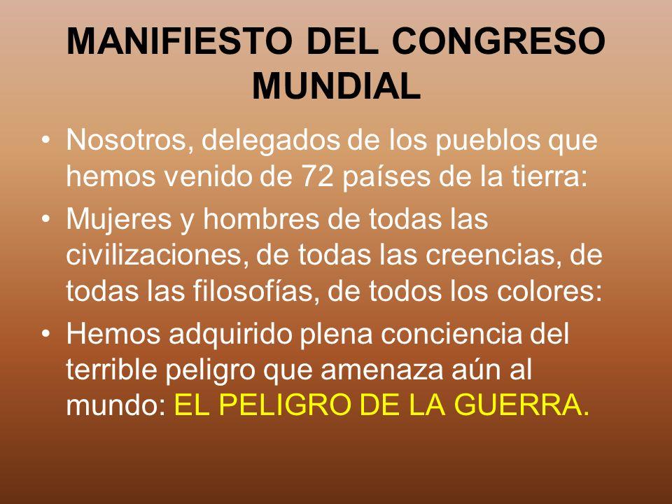MANIFIESTO DEL CONGRESO MUNDIAL