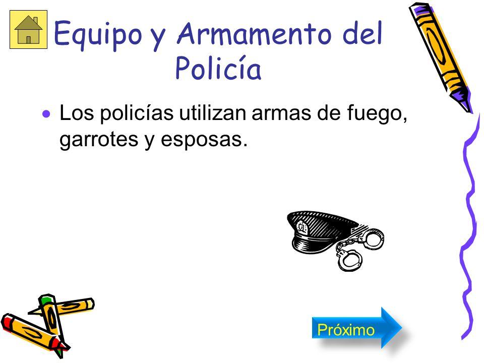 Equipo y Armamento del Policía